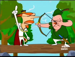 I decree before all of England that I King Arthur and Robin Hood from this point on shall be best friends forever!